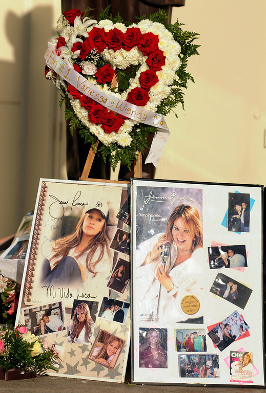 . Fans of singer Jenni Rivera created a memorial at Liberman Broadcasting to pay tribute to her on December 10, 2012.  (Dean Musgrove/Los Angeles Daily News)