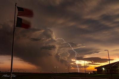 July 9 Childress, TX Sunset and Lightning