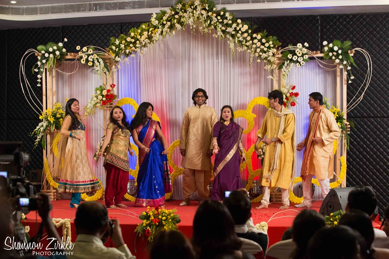 Cocktails and dinner to celebrate the marriage of Rim Mukhopadhyay to Utkarsh Singhania held at The Chrome Hotel in Kolkata.