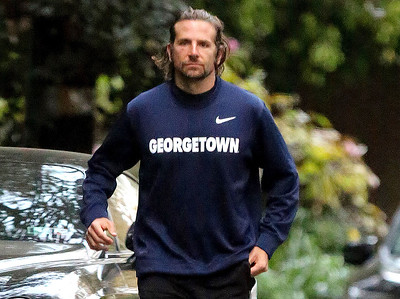 EXC: Go Hoyas! Bradley Cooper Jogging For Georgetown!