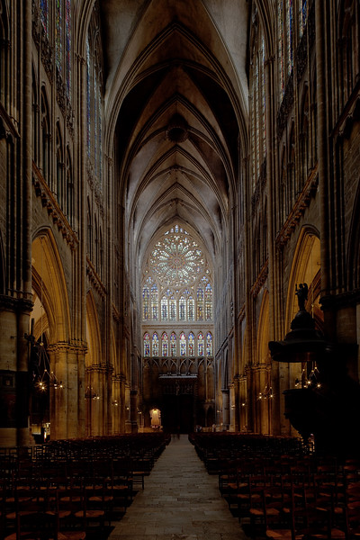 Metz Cathedral of Saint Stephen Nave and West Rose Window