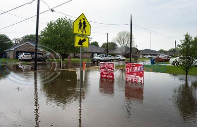 Flooding in Bullard on 4/12/2020 by Sarah A. Miller