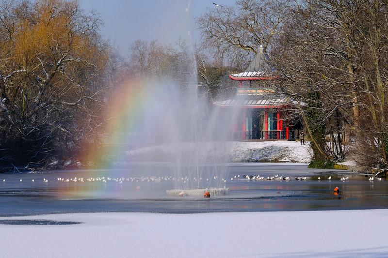 Victoria Park in winter, London, United Kingdom
