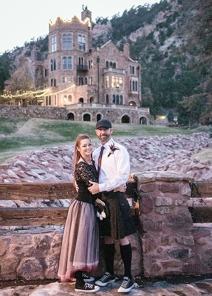 Lauren and J -Handfast at Glen Eyrie