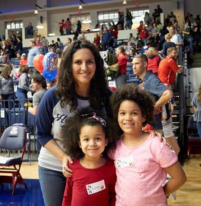 Alumni at Homecoming Basketball