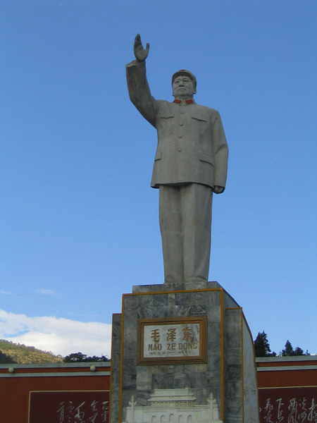 Statues of Mao everywhere.