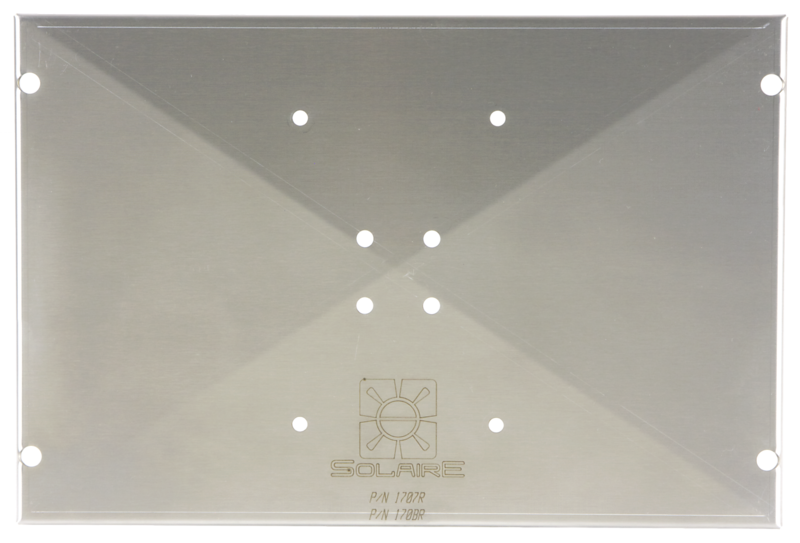 Item SOL-170BR Mount Adapter Plate to adapt a variety of Magma brand mounts to Solaire Anywhere and Solaire Everywhere Portable Infrared Grills.