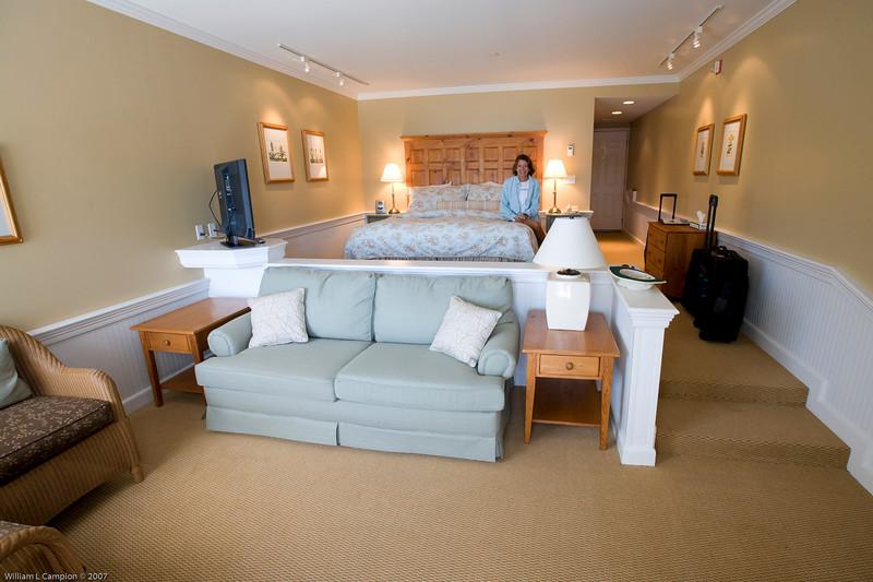 View of our room, Outlook Inn on Orcas Island 171 Main Street Eastsound, WA 98245 www.outlookinn.com