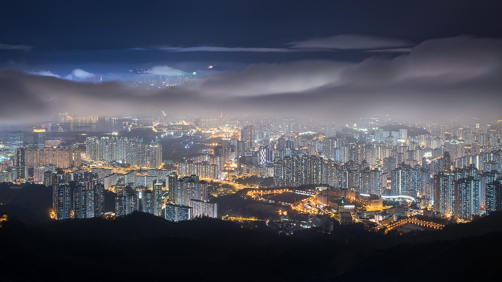 Night view from Fei Ngo Shan