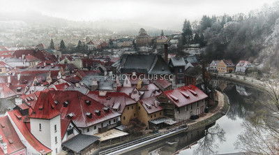 DIGITAL-COLOR-ADVANCED-SILVER-WINTER MORNING IN CZECHY KRUMLOV-BARBARA KLIMCZAK