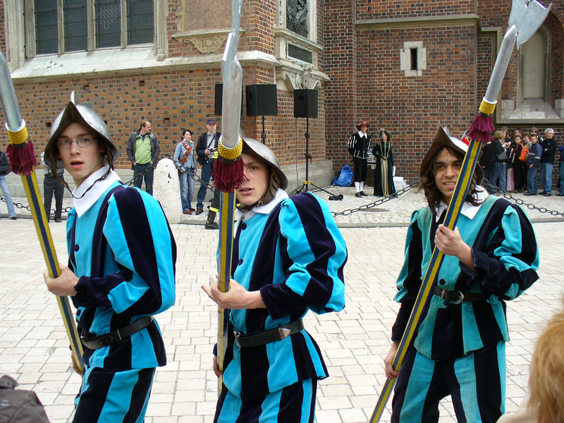 I was in the middle of a Polock joke when these guys pointed their spears at me.  The guy on the right thought it was funny though.