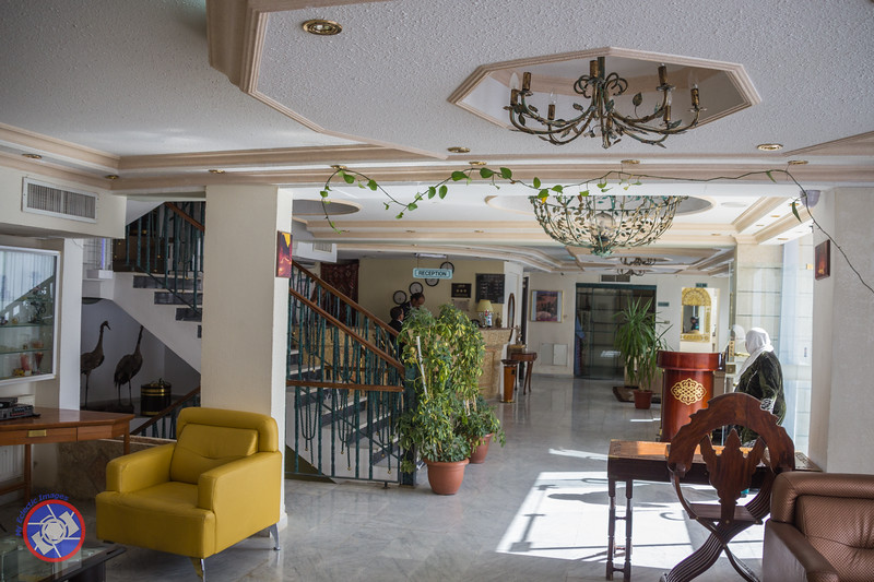 Lobby of the Candles Hotel in Wadi Musa (©simon@myeclecticimages.com)