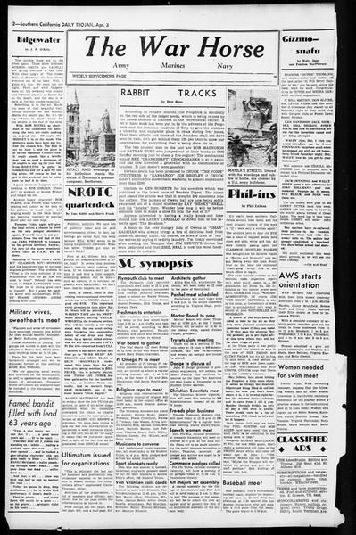 Daily Trojan, Vol. 36, No. 92, April 03, 1945