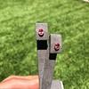 .79ctw Oval Padparadscha Sapphire Bezel Stud Earrings 27