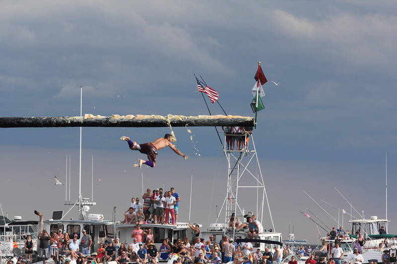 Fiesta Seine Boat Races..&...Greasy Pole Contest