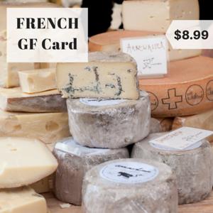 France gluten free restaurant card