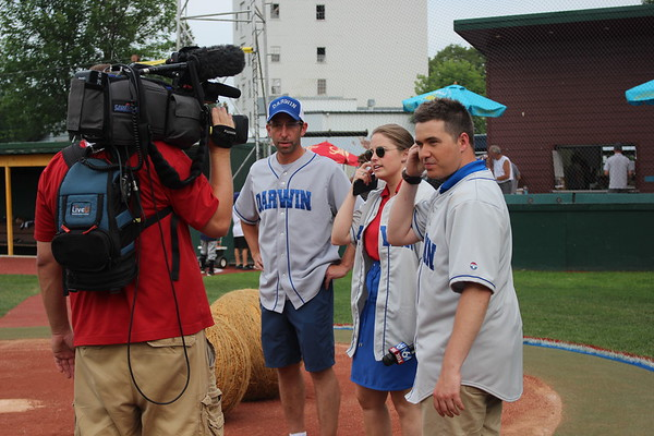 Fox 9 visits Dassel for Darwin Night at the Ball Park