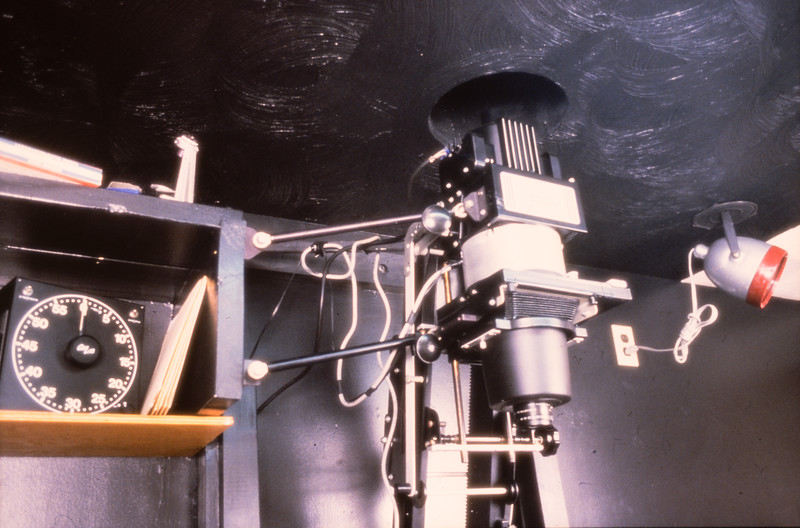 Enlarger used for exposing matrices.