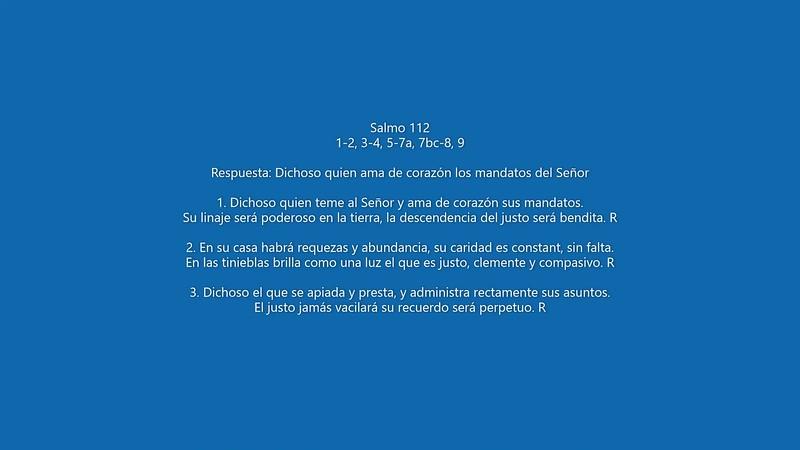 Salmo 112 Dichoso quien ama de corazón los mandatos del Señor_mp4.MP4