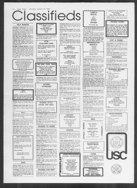 Daily Trojan, Vol. 93, No. 8, January 20, 1983