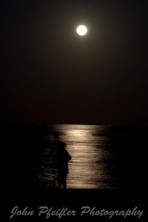 Super Moon and Jupiter Lighthouse