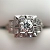 0.58ctw Old European Cut Diamond Art Deco Illusion Ring 12