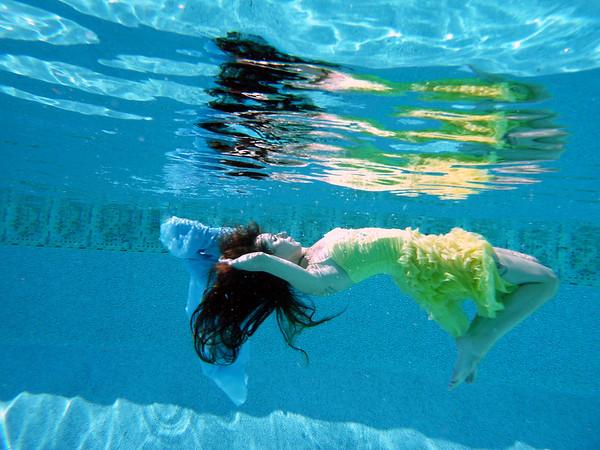 Bright day under water