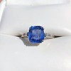 Vintage-Inspired and Contemporary 3.03ct Blue Sapphire Ring (GIA, No-Heat)) 4