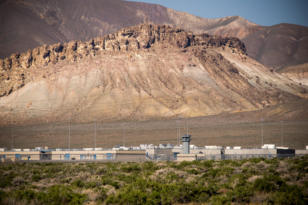 . The prison just outside of Lovelock, Nevada which now houses OJ Simpson.   The small town has been put on the map since Simpson was locked up at the Nevada Prison near town.    (Photo by David Crane/Los Angeles Daily News.)