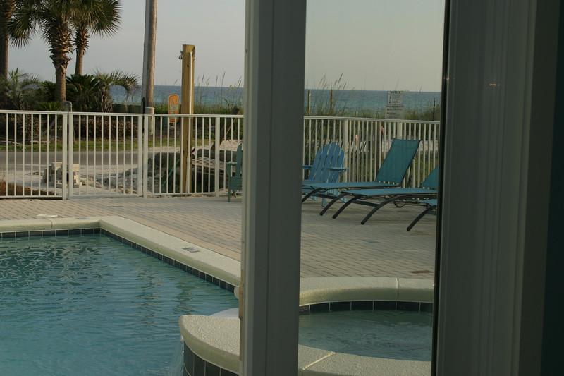 pool & jazucci- taken from inside 1st floor playroom/living room door