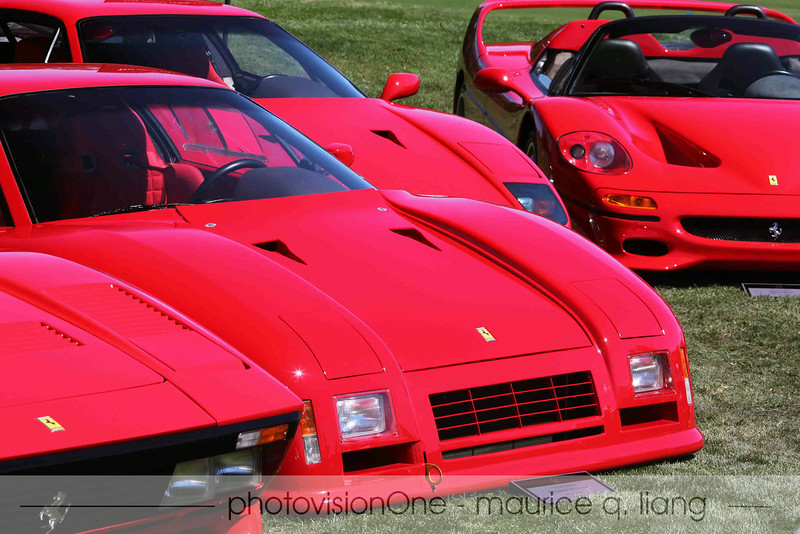 "The collection of ""special"" Ferraris; 288 GTO, F40, F50."