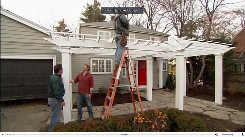 This Old House - Pergola Installation