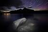 """Skies Ablaze"" X, Lake Minnewanka, Banff National Park, Alberta, Canada."