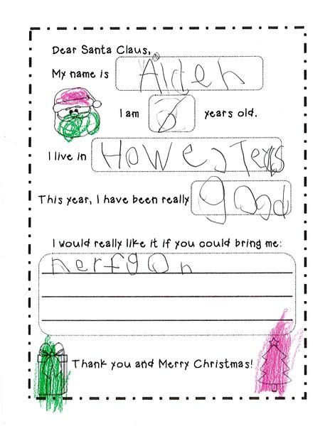 2018 Kindergarten - Mrs. RIchardson Letters to Santa (5).jpg