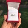 1.85ctw Old European Cut Diamond Stud Earrings 13