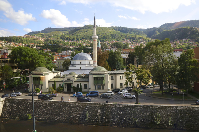 Across the river from the old city, the Careva Džamija (Emperor's Mosque) was built in 1565