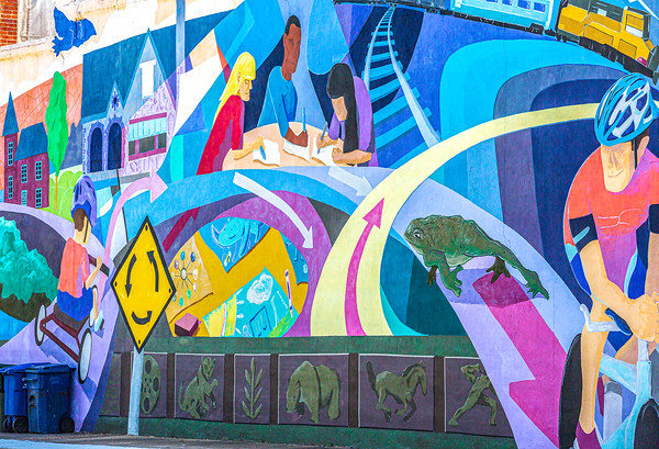Mural in Downtown Conway  --  Adventure Cycling's Central Loop