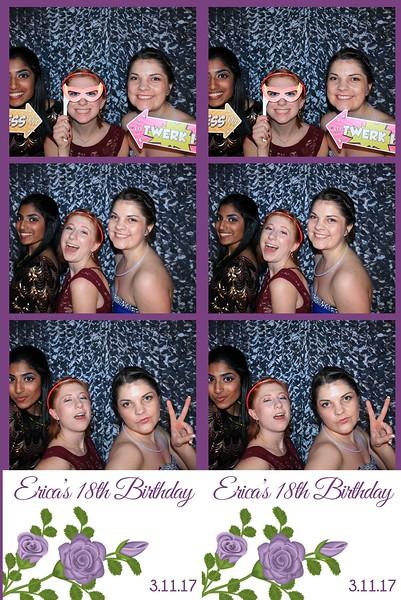 Erica's 18th Birthday