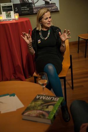 Meditation teacher Sharon Salzberg artist Josh Melnick in RMA's HAPPY TALK