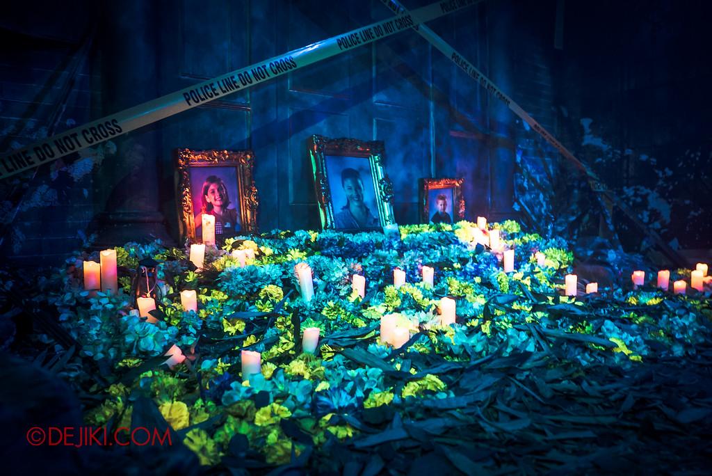 Halloween Horror Nights 6 - Bodies of Work / Shipman Gallery entrance flowers