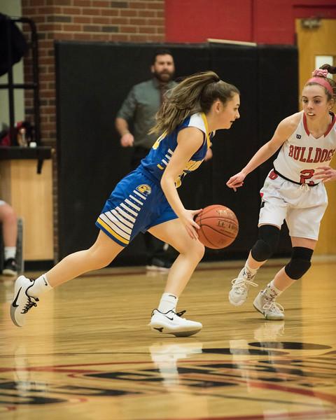 2020 Varsity Girls Basketball:  Hall-Dale vs Boothbay