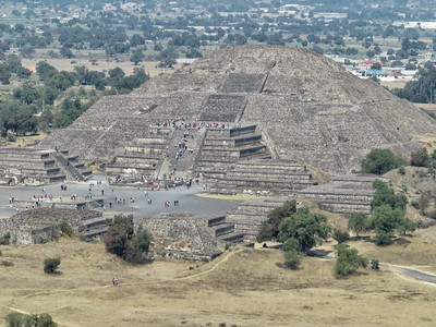 View of the Pyramid of the Moon (Teotihuacan)