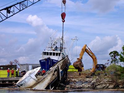 Hurricane Katrina Shrimp Boats Gulfport, Mississippi - November 2005