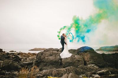Stephanie & Dane - Wedding Ceremony - Big Beach Resort |  Ucluelet, BC