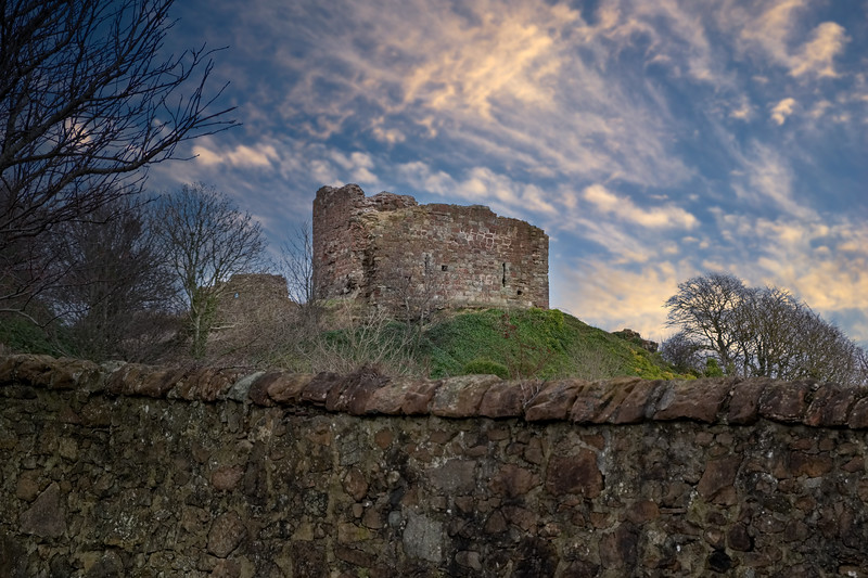 The old Ruins that are Ardrossan Castle which sit high on Canon Hill above the town.