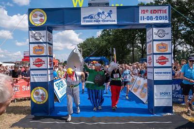 Sterke Peer triatlon 2018 - Aankomst Trio Triatlon