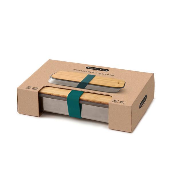 Stainless Steel Sandwich Box ocean packaging Black Blum