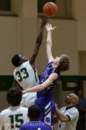 Broughton JV boys basketball vs Cardinal Gibbons. February 7, 2019. MRC_3838