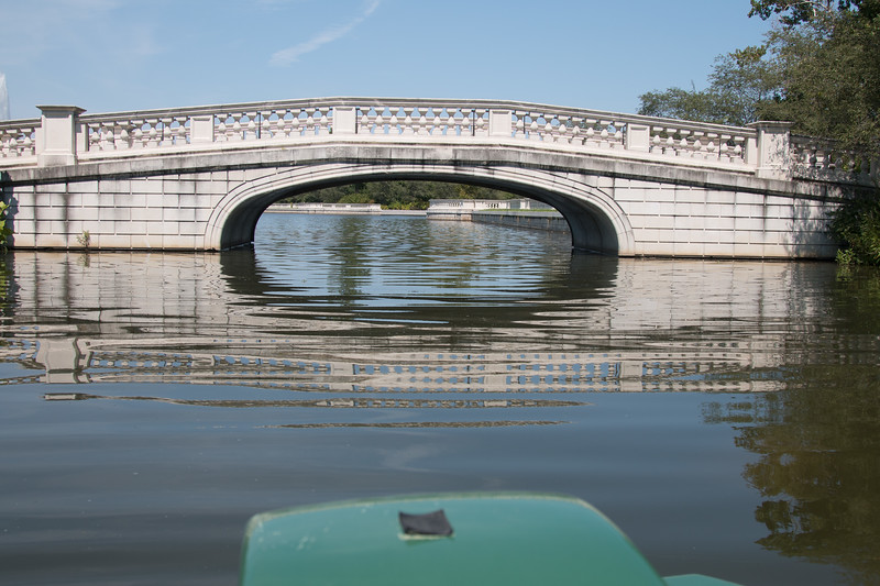 A paddle boat trip through the canals and Post-Dispatch Lake of Forest Park, St. Louis