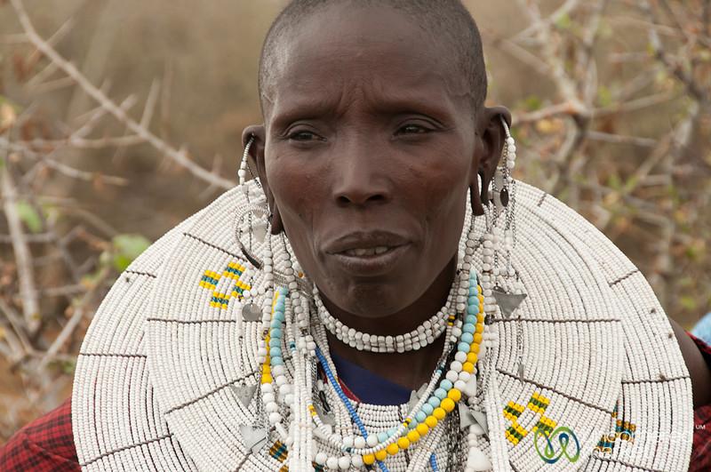 Masai Woman with Jewelry - Lake Manyara, Tanzania